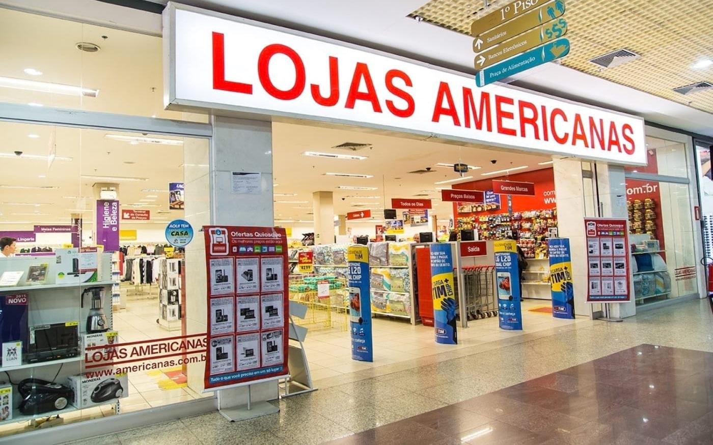 Ações das lojas americanas